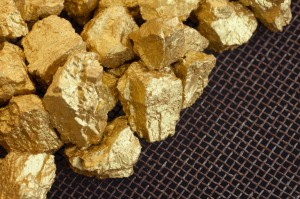 a mound of gold