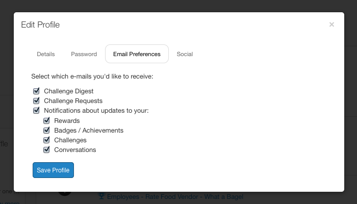 Influitive AdvocateHub email preferences